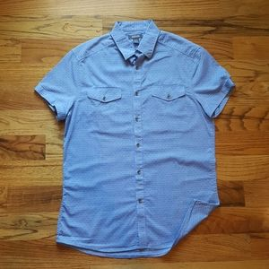 Kenneth Cole blue button down shirt size s